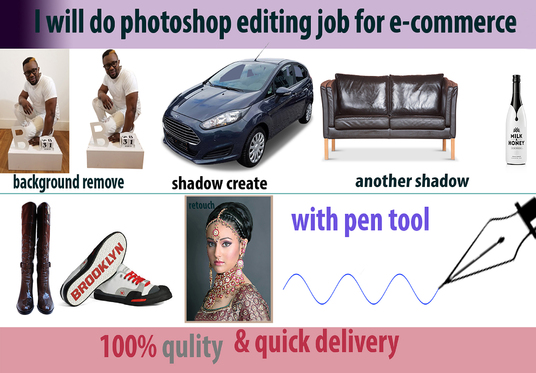 I will Do Background Removal Or Clipping Path Job Professionally