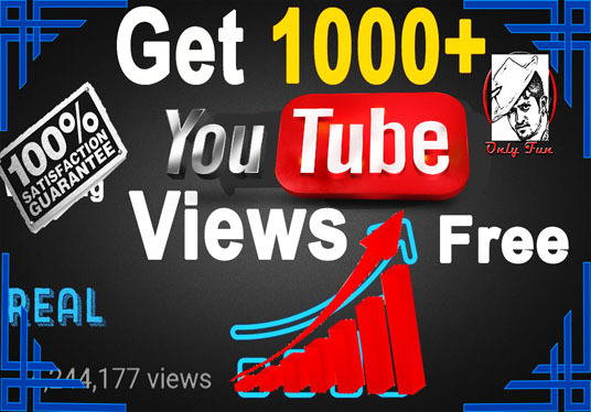 Give you 1000 Youtube Views for Promotion Fast for £5 : DesignBD
