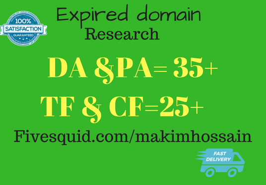 I will Do Expired Domain Research