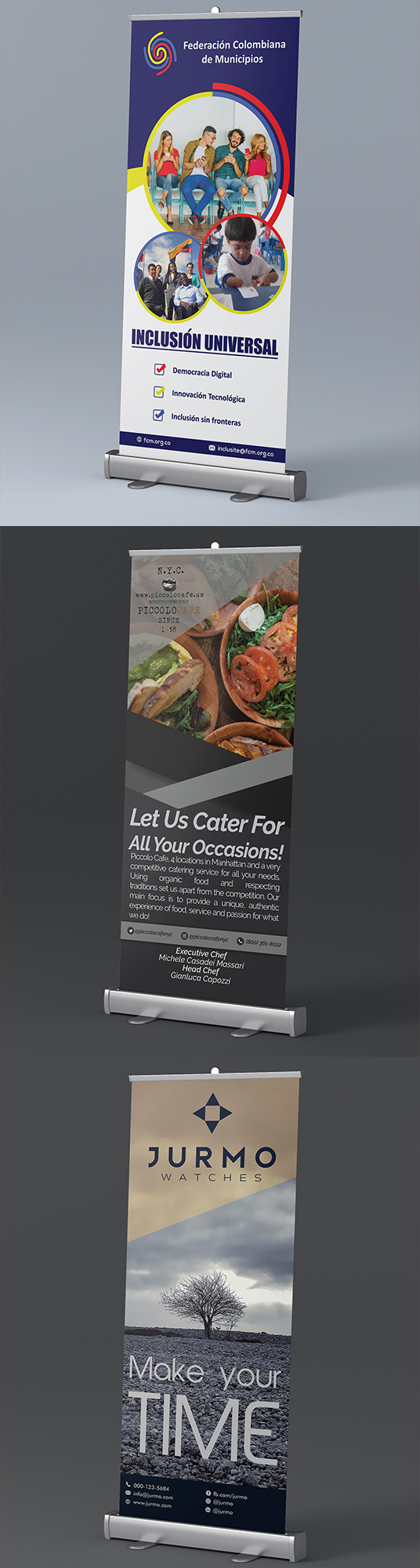 I will design professional Roll Up Banner Or Feather Banner