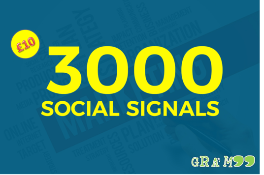I will 3000 Social Signals white hat seo backlinks to social field
