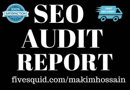 I will do complete seo audit report