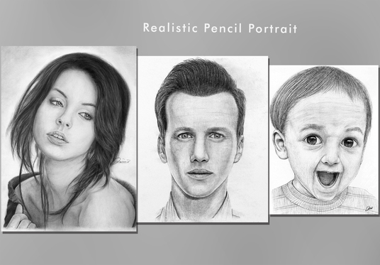 I will draw a realistic pencil portrait from your photo