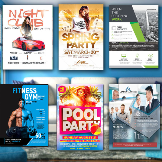 I will design an amazing flyer for you