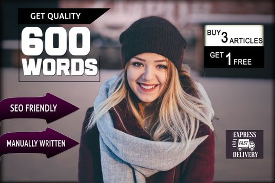 do SEO article writing, blog writing, content writing of 600 Words on any Topic