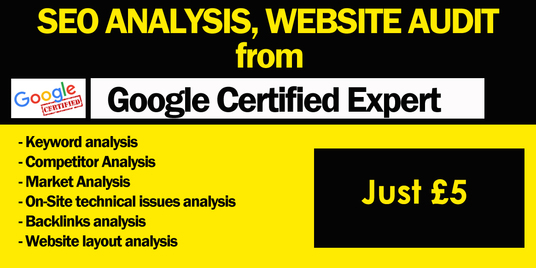 I will Audit Your Website And Provide an In- Depth SEO Analysis Report