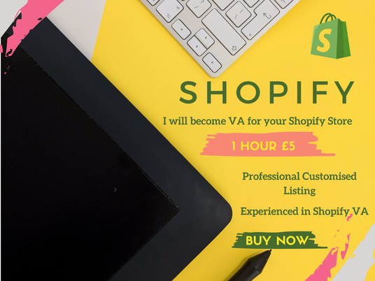 I will Become Shopify Virtual Assistant For 1 Hour