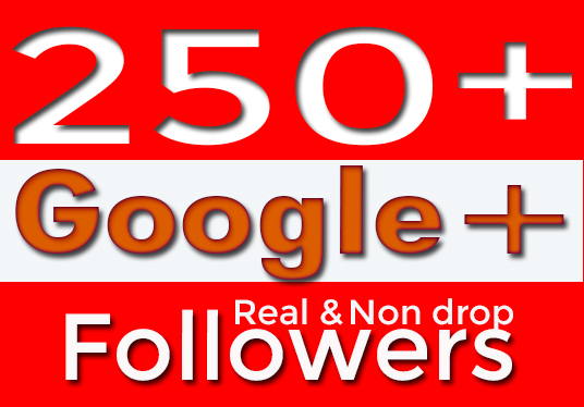 I will Provide 250+ Google Plus Active & Non Drop Followers