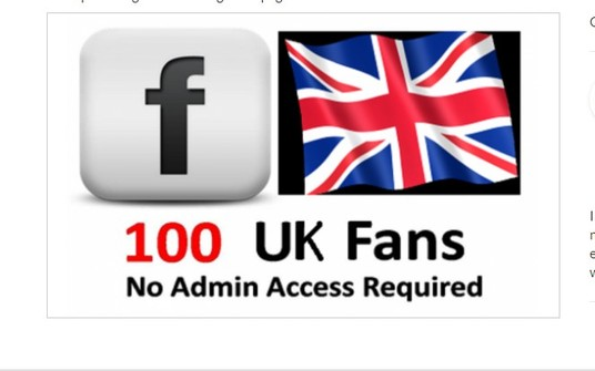 I will Add 50 UK Facebook Likes to Your Fanpage