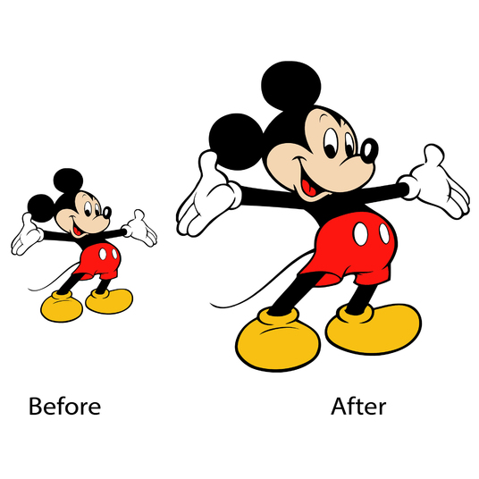 I will Convert your low resolution image into high resolution image