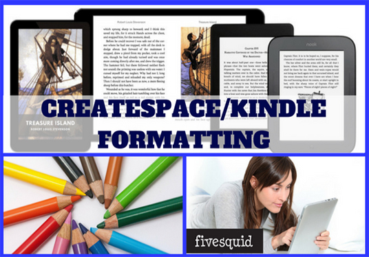 I will edit, format, design covers and professionally publish your book for print and kindle