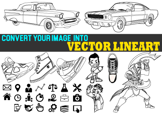 I will Convert your image into detailed VECTOR LINEART