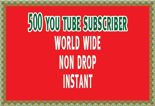 I will Manually Add 100 Non Drop You Tube Subscribers