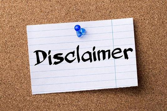 I will write your disclaimer page for your website