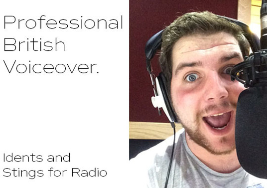 I will record professional British Male voice over for Radio Idents, Stings and Station Imaging (