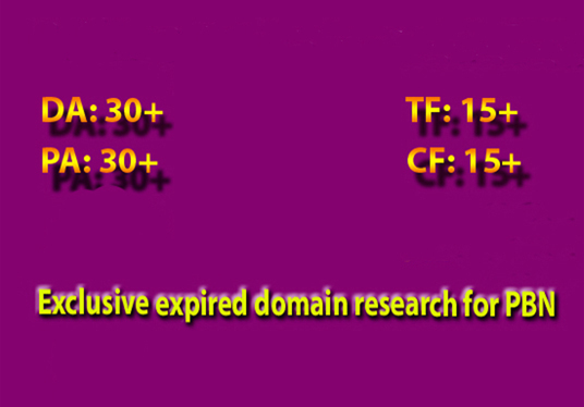 I will provide exclusive expired domain name after-exact research