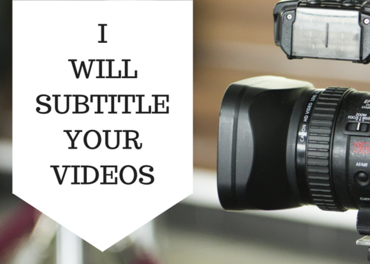 I will Create Subtitles For Your Video In English Or Portuguese
