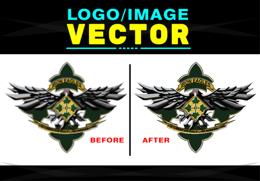 I will Convert Your Logo Image To  Vector Within 24 Hours