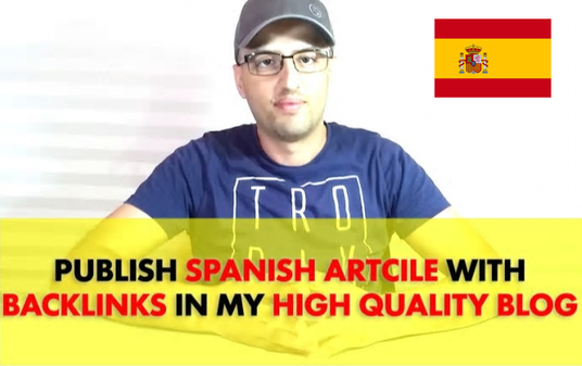 Do spanish article with backlinks on HQ Website