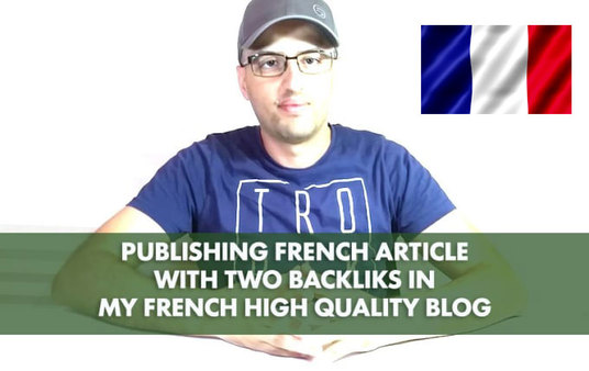 I will Do French Article With Backlinks On My Website