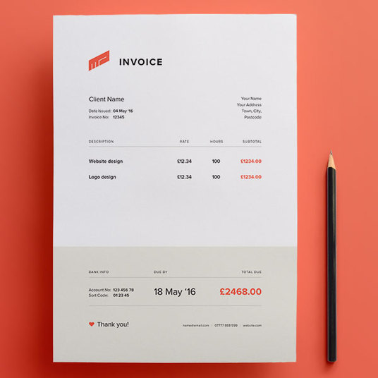 I will Do Invoice design for your company by ms word