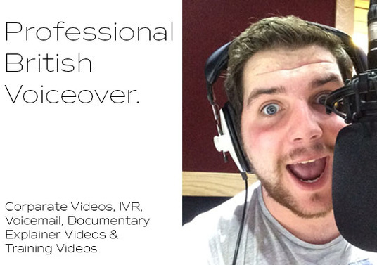 I will deliver 150 words of professional, voiceover for IVR, Voicemail, Explainer Vids, Documenta
