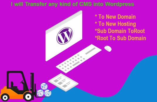 transfer any kind of cms sites old to new wordpress site