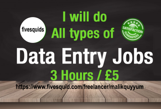I will do all type of data entry jobs ASAP
