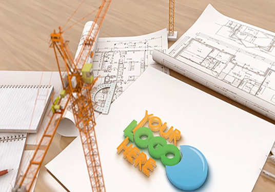 Make Creative Construction Building Logo Intro with your Logo