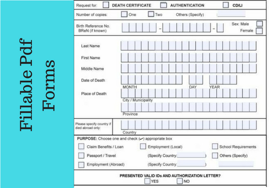 I will create a fillable pdf form for you
