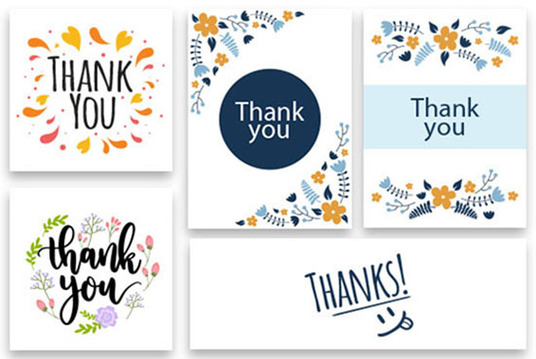 I will Design an Amazon Thank You Card, insert card , Farewell Card, Seasons greetings card or po