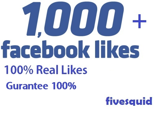 I will Add 1000+ Real FACEBOOK Likes