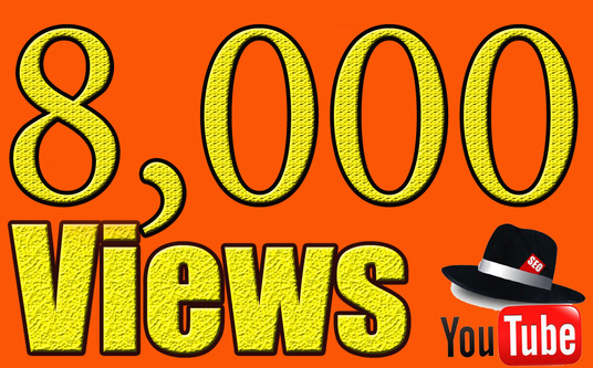 I will Give you 8,000  YouTube Views