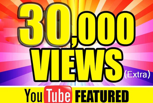 I will Give you 30,000  YouTube Views