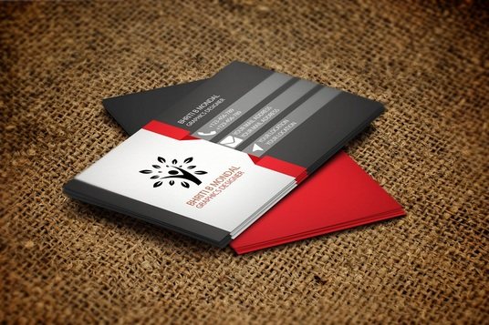 I will create business card for you