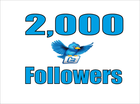 I will Give Real 2,000 Twitter Followers