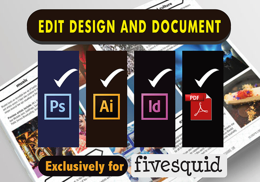 Edit Or Redesign Your Design and Document Within 24 Hours