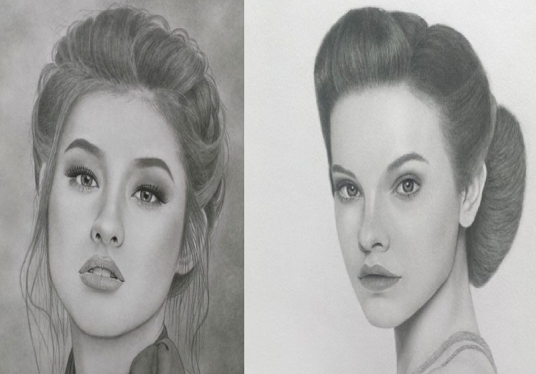 I will draw your portrait photo by pencil sketch