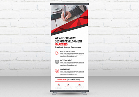 I will design professional, modern, unique and print ready roll up banner / billboard / poster