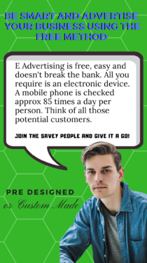 create your personalised E electronic business advert for mobile phone instant messaging