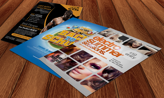design flyer and poster