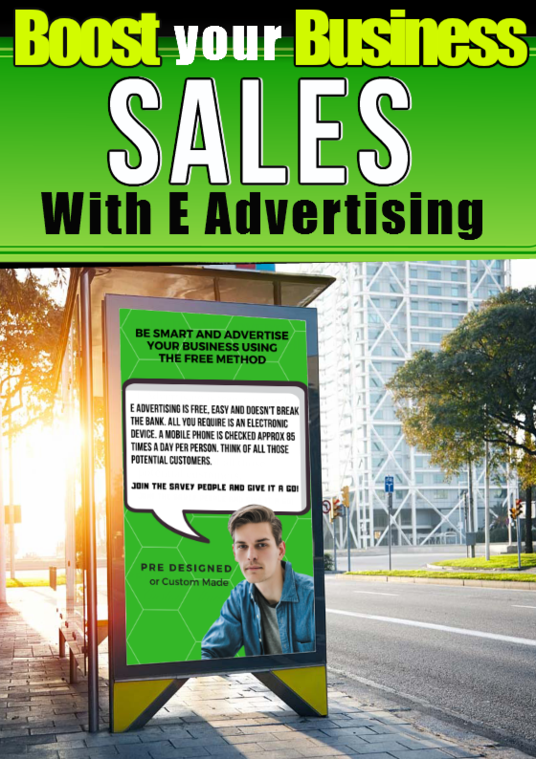 I will create your personalised E electronic business advert for mobile phone instant messaging
