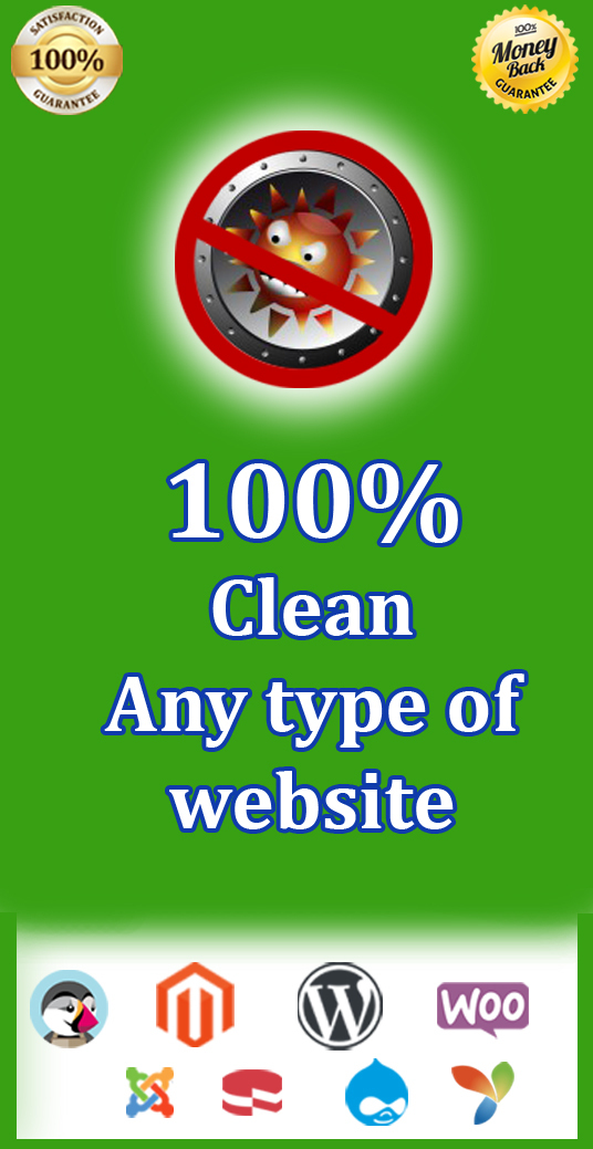 I will  Remove  Malware, Virus from Any Type of Websites Super-fast
