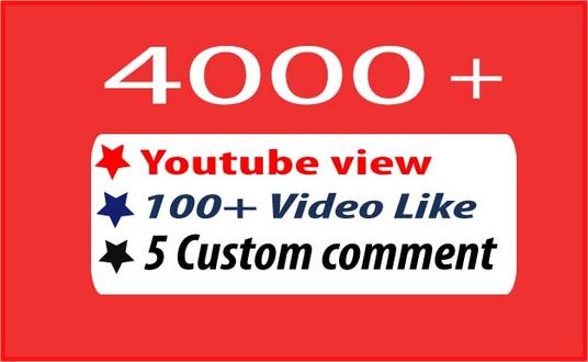 I will add  4000 + Windows Desktop Watch YouTube Video View,100 video view and 5 custom comments