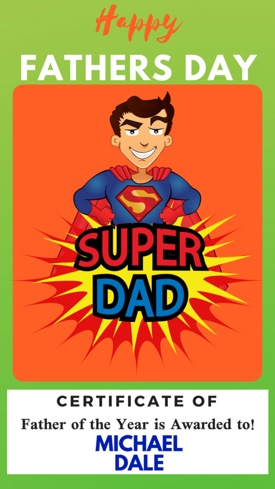 I will add your fathers day message on one of my pre designed e cards