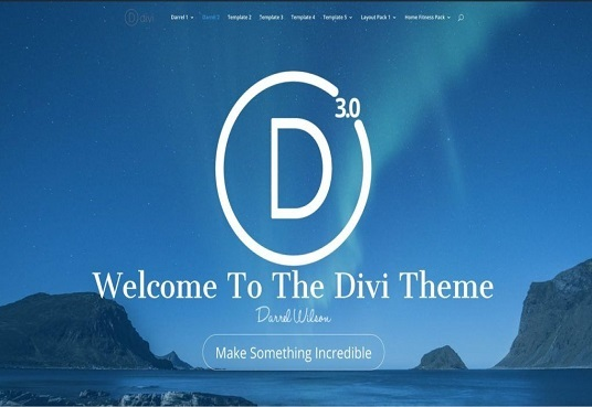 I will design beautiful website by using divi theme