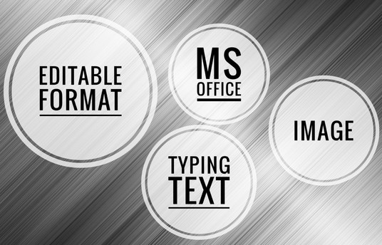 I will professionally convert images into editable format text