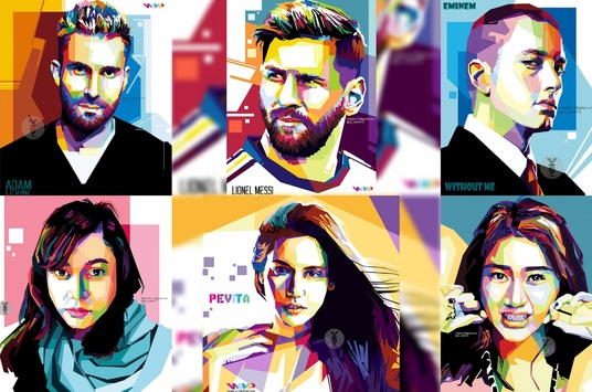 I will make your picture into beautiful wpap pop art