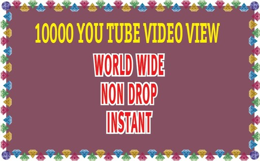 I will Give you 3000+ non drop YOU TUBE video view