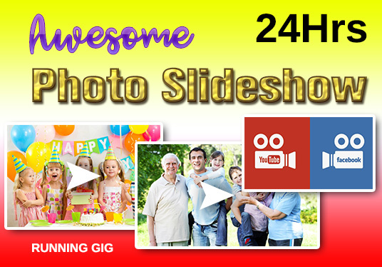 I will Create Awesome Photo Slideshow From Your Photos And Videos
